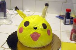 Finished Pikachu Cake