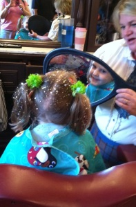 Allie glitter hair