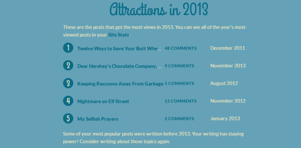 2013 Attractions