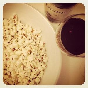 red wine popcorn