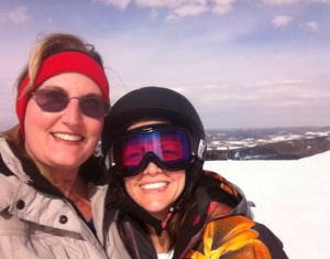 Stace Leigh skiing