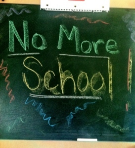 no more school chalkboard
